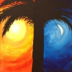 Day And Night Palm Tree
