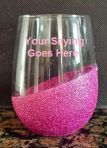 Glitter Stemless Wine Glass – Customized